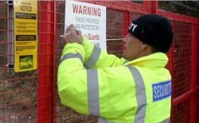 construction site security bristol